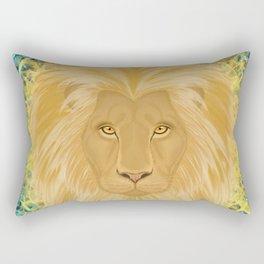 Lion Sun King Rectangular Pillow