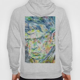 ANTHONY BURGESS - watercolor portrait Hoody