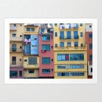 Colored Block Art Print