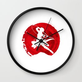Red Levi akerman Wall Clock