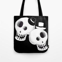 Dapper Skulls Tote Bag