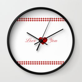Red Saint Valentine's Day Wall Clock