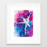 ballerina Framed Art Prints featuring Ballerina by Slaveika Aladjova
