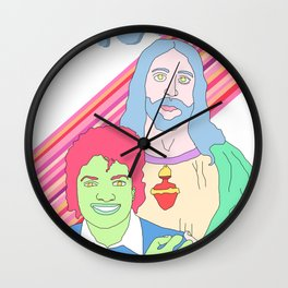 Bros in Heaven Wall Clock