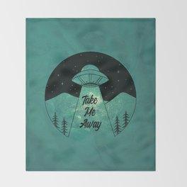 """""""Take Me Away"""" UFO (Colour) Throw Blanket"""
