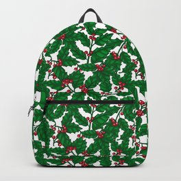 Holly berry on white Backpack