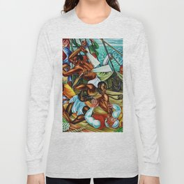 """African American Classical Masterpiece """"The Mutiny on the Amistad"""" by Hale Woodruff Long Sleeve T-shirt"""
