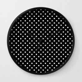 Black & White Polka Dot Pattern Wall Clock