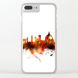 Florence Italy Skyline Clear iPhone Case