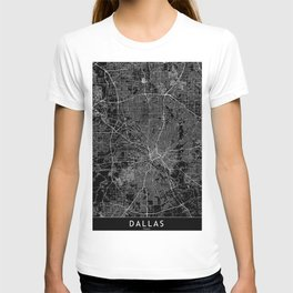Dallas Black Map T-shirt