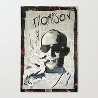 hunter s thompson Canvas Prints featuring Dr. Hunter S. Thompson by Mike Oncley