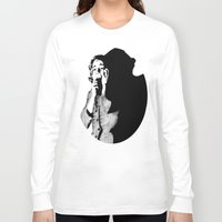 crane Long Sleeve T-shirts featuring Lila Crane by Zombie Rust