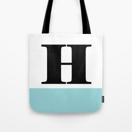 Monogram Letter H-Pantone-Limpet Shell Tote Bag
