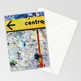Borrello: road sign and clothes pegs Stationery Cards