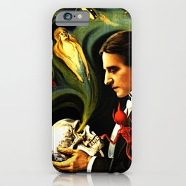 Thurston the Great Magician, the Wonder Show of the Universe. Do the Spirits Come Back? iPhone Case