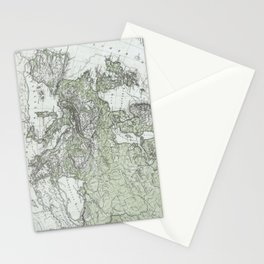 Vintage Map of Europe (1862) Stationery Cards
