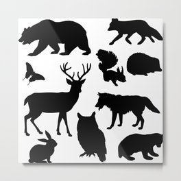 Animal Collage 4 Metal Print
