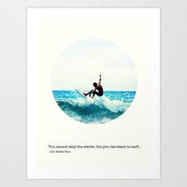 Surf Quote Art Print