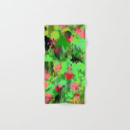 Red dots on green Hand & Bath Towel