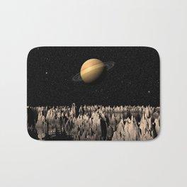 Planet Saturn Bath Mat