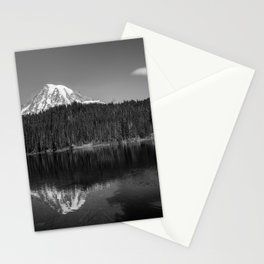 Touch of Glass - Mount Rainier at Reflection Lake in Washington Stationery Cards