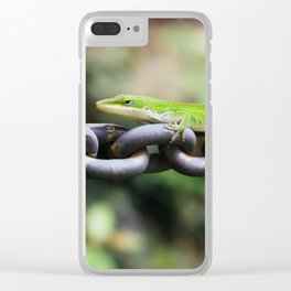 Anole on Chain I Clear iPhone Case