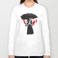 umbrella Long Sleeve T-shirts featuring Umbrella by Bill Pyle
