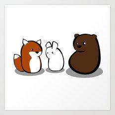 Animal Marshmallow Art Print