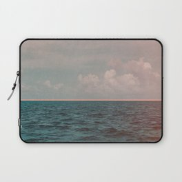 Turquoise Ocean Peach Sunset Laptop Sleeve