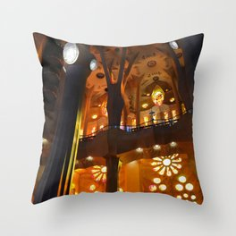 Sagrada Familia Vitraux Throw Pillow