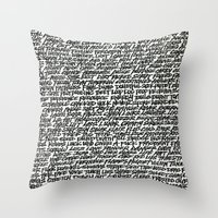 word Throw Pillows featuring Word by Abstractink82