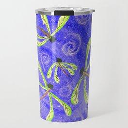 Dragonflies Dancing  ~ Purple & Green Travel Mug