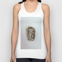 gold foil Tank Tops featuring Gold Foil by Terriffico