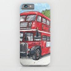 red bus in davis Slim Case iPhone 6s