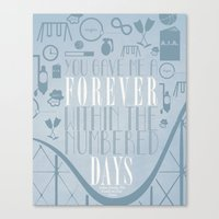 fault in our stars Canvas Prints featuring Fault in Our Stars by Natasha Ramon