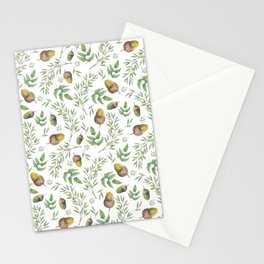 Acorn Pattern Stationery Cards