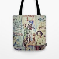 cooking Tote Bags featuring COOKING by Gabriella Vaghini