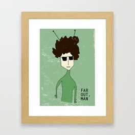 Alien Bob Dylan Framed Art Print