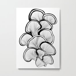 Mushrooms in black and white Metal Print