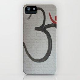 Artistic Aum iPhone Case