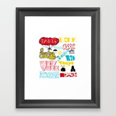 places Framed Art Print