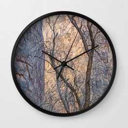 WARM WINTER WALLS OF ZION CANYON Wall Clock