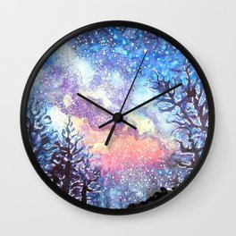 Galaxy Spring Night by CheyAnne Sexton Wall Clock
