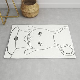 Alien superheroe type2 Rug