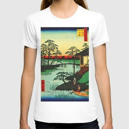 Mokubo Temple on Uchi River Japan T-shirt