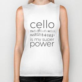 Cello power (white) Biker Tank