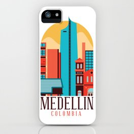Medellin skyline iPhone Case