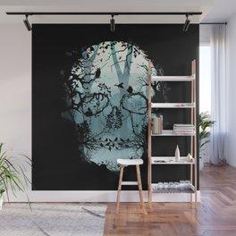 Dark Forest Skull Wall Mural