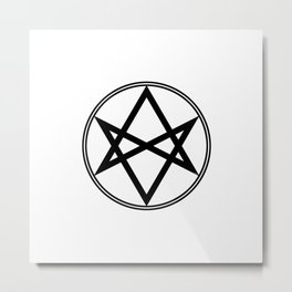 Men of Letters Symbol Black Metal Print