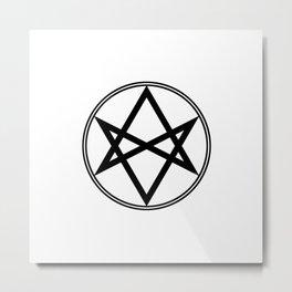Men of Letters Symbol Black Metal Print